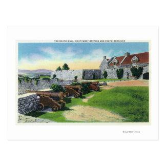 Carte Postale Mur du sud, bastion de sud-ouest, casernes de sud