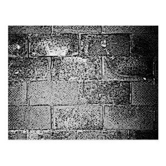 Carte Postale Mur noir et blanc. Digitals art.