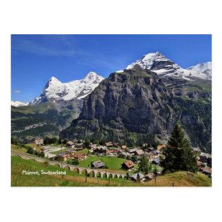Carte Postale Mürren, Suisse - Schweiz