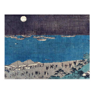 Carte Postale Musardez la scène chez Takanawa par Andō,