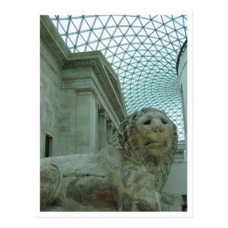 Carte Postale musée britannique de lion