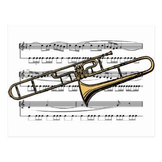 Carte Postale Musical 14 B de trombone