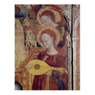 Carte Postale Musiciens d'ange de la peinture de la Vierge et de
