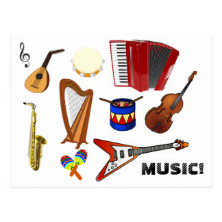 Carte Postale Musique !