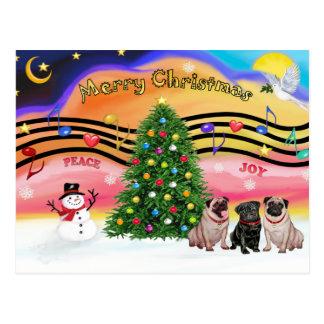 Carte Postale Musique 2 de Noël - carlins (three-2F-1B)