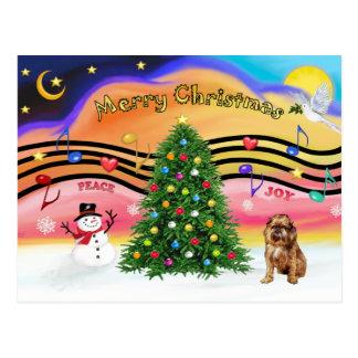 Carte Postale Musique 2 de Noël - griffon 1 de Bruxelles