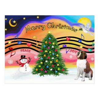 Carte Postale Musique 2 de Noël - St Bernard 1