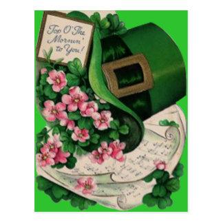 Carte Postale Musique de feuille de casquette de lutin de fleur