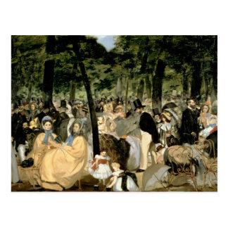 Carte Postale Musique de Manet | dans les jardins de Tuileries,