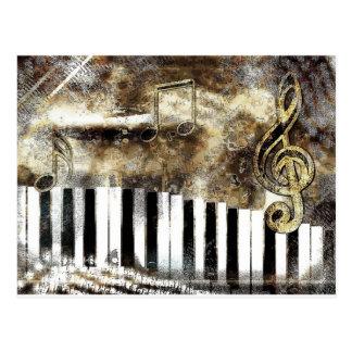 Carte Postale Musique de piano