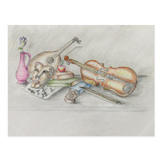 Carte Postale Musique d'instruments