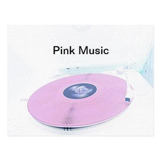 Carte Postale Musique rose vive