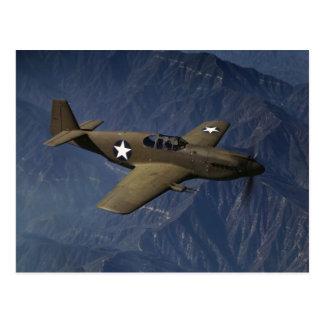 Carte Postale Mustang P-51 en vol, 1942
