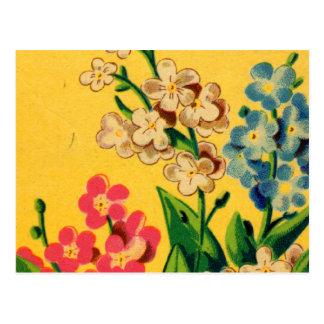Carte Postale Myosotis des marais français vintages d'art de
