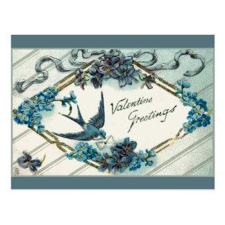 Carte Postale Myosotis des marais vintages de Valentine