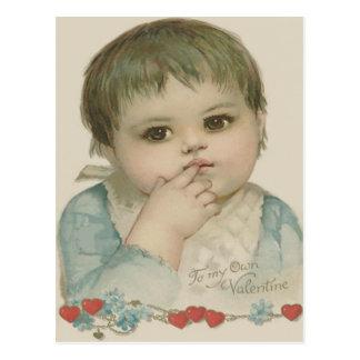 Carte Postale Myosotis mignon de coeur de bébé