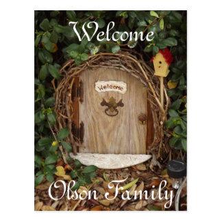 Carte postale mystique d'accueil de porte de