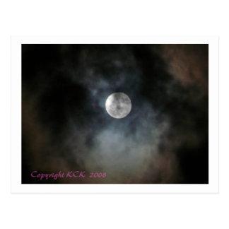 Carte postale mystique de lune