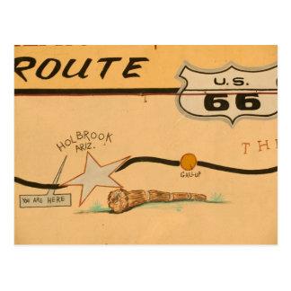 Carte Postale Na, Etats-Unis, Arizona, peinture murale de route