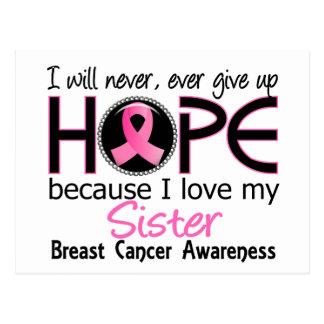 Carte Postale N'abandonnera jamais le cancer du sein de soeur
