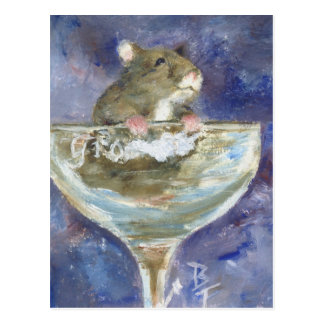 Carte postale naine de hamster de bottes