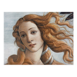 Carte Postale Naissance de fin de Vénus vers le haut de tête