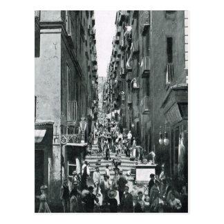 Carte Postale Naples, 1908, Gradoni di Chiala
