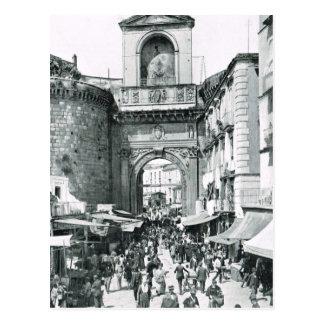 Carte Postale Naples, 1908, Porta Capuano