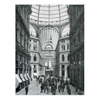 Carte Postale Naples, 1908, puits Umberto I
