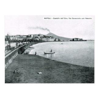 Carte Postale Naples, port et bord de mer 1908