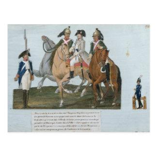 Carte Postale Napoleon Bonaparte et la sentinelle de Varsovian