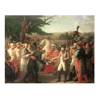 Carte Postale Napoleon Bonaparte recevant les clés