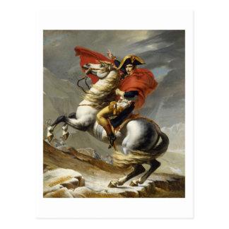 Carte Postale Napoléon croisant le passage grand de St Bernard