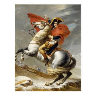 Carte Postale Napoléon croisant les Alpes par Jacques Louis