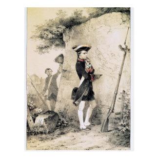 Carte Postale Napoléon I à l'école militaire