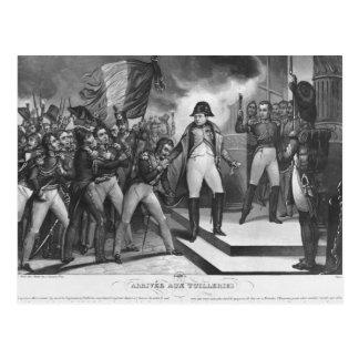 Carte Postale Napoléon I arrivant chez le Tuileries