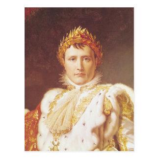 Carte Postale Napoléon I dans des robes longues de couronnement,