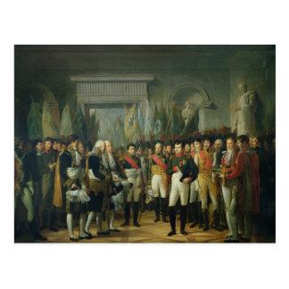 Carte Postale Napoléon I recevant les députés