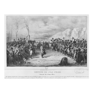Carte Postale Napoléon I retournant de l'Île d'Elbe