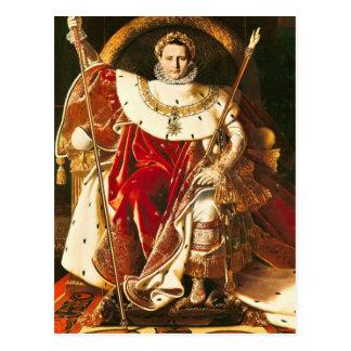 Carte Postale Napoléon I sur le trône impérial, 1806