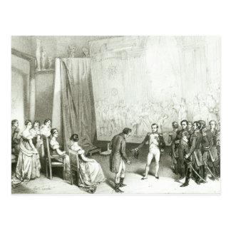 Carte Postale Napoléon I visitant le studio de David