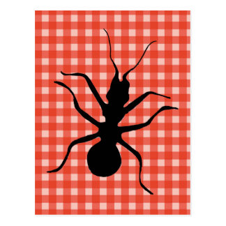 Carte Postale Nappe Crawly déplaisante de plaid de fourmis
