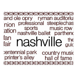 Carte Postale Nashville Brown