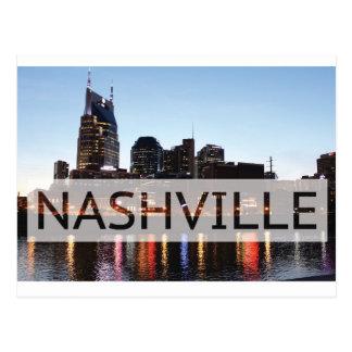 Carte Postale Nashville, TN w/River du centre