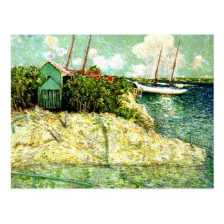 Carte Postale Nassau, Bahamas, peignant par J. Alden Weir
