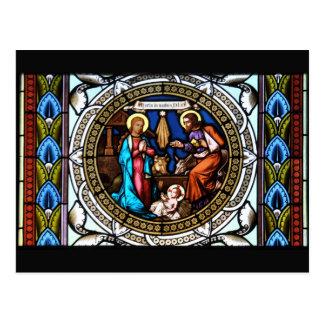 Carte Postale Nativité de fenêtre de chapelle de Mehrerau