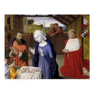 Carte Postale Nativité par le maître de Moulins
