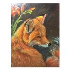 Carte Postale nature d'art de main de peinture de peinture de