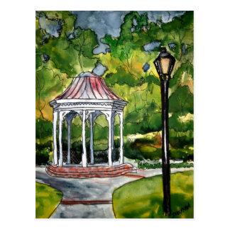 Carte Postale nature de jardin de peinture d'aquarelle de