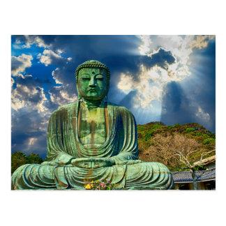 Carte postale naturelle de statue de Bouddha